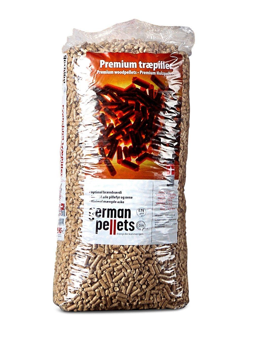 German Pellets - Premium træpiller i poser - 6 mm.