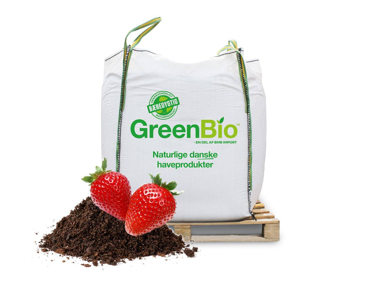 Jordbærmuld økologisk i bigbag
