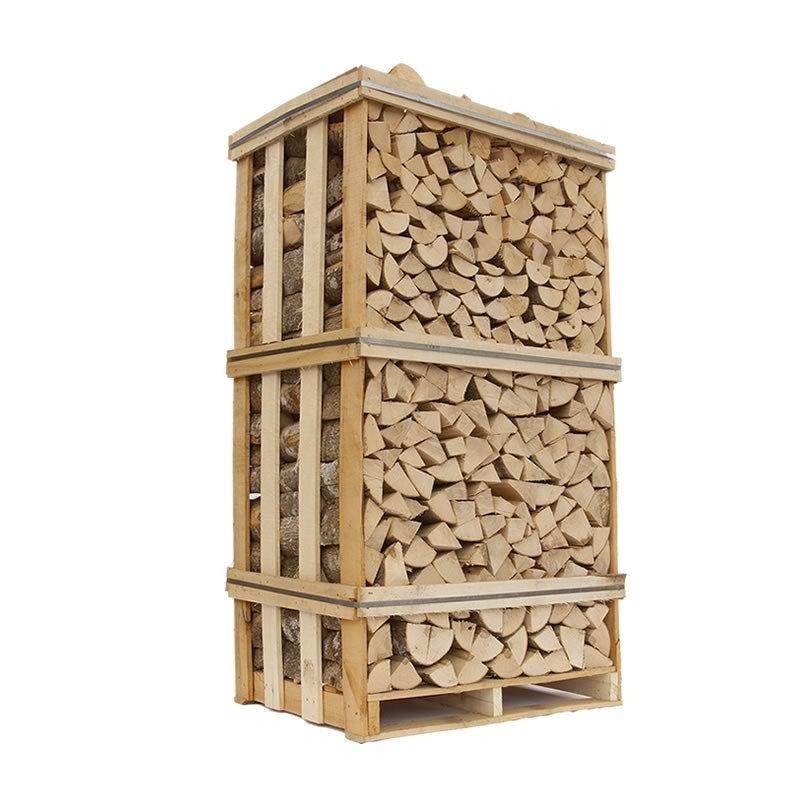 Lufttørret Ask - stablet brænde