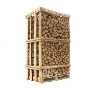 Lufttørret Eg - stablet brænde
